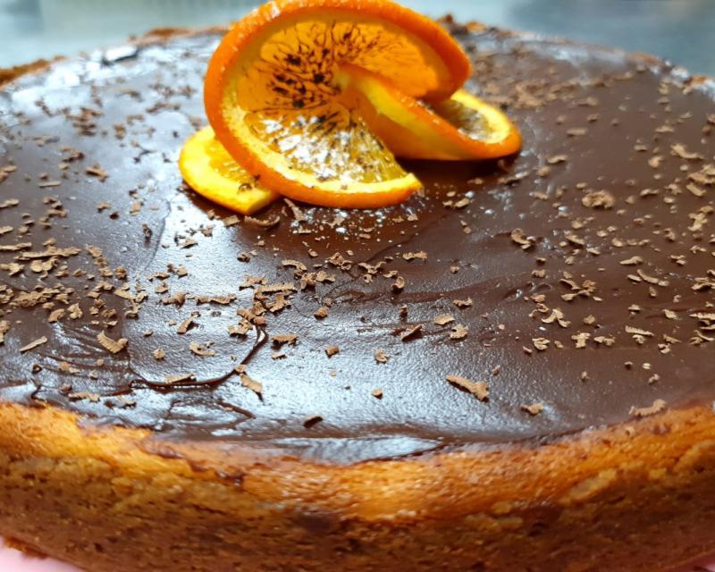 Poza Cheesecake cu ciocolata si portocala