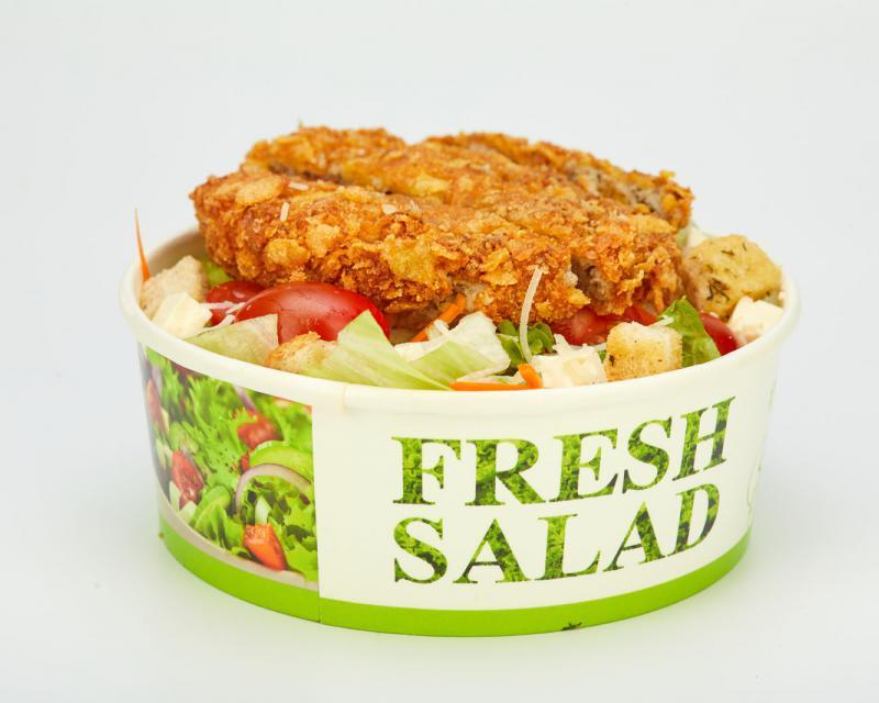 Poza Salata Caesar cu prepelita crispy