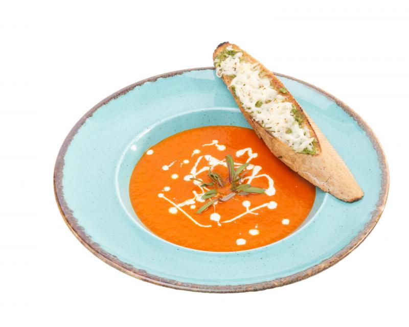Poza Supa crema de rosii si bruscheta cu mozzarella