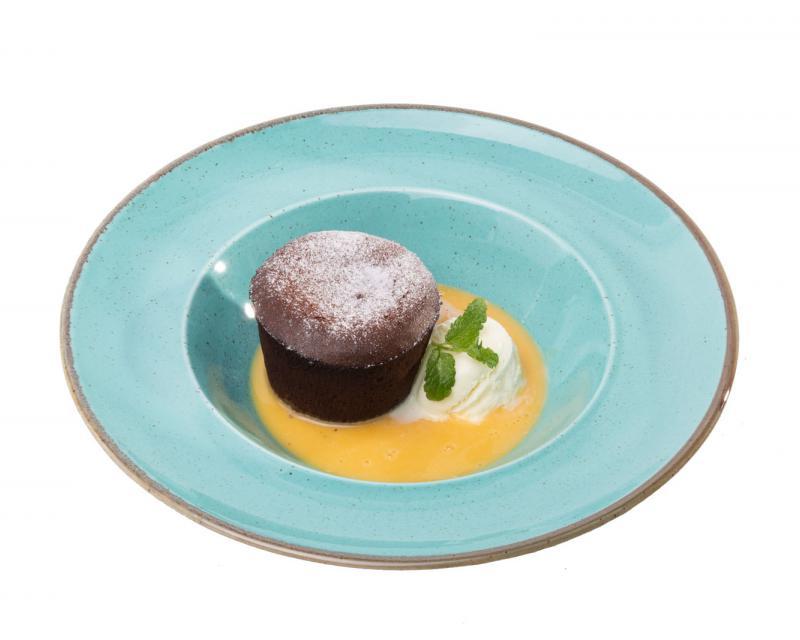 Poza Lava Cake cu inghetata si sos de vanilie