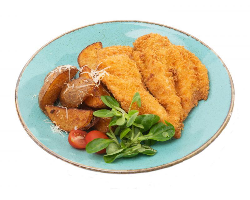Poza Snitel de pui cu cartofi wedges
