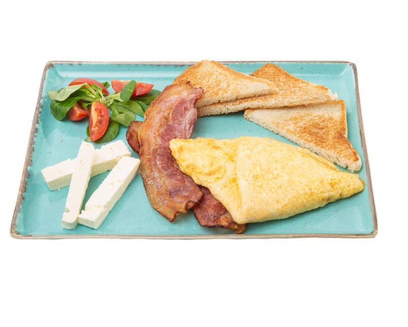 Poza Omleta cu branza si bacon