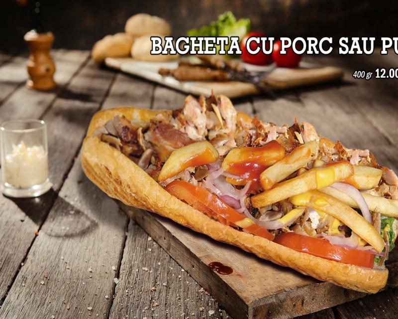 Poza Bagheta mixta cu porc si pui