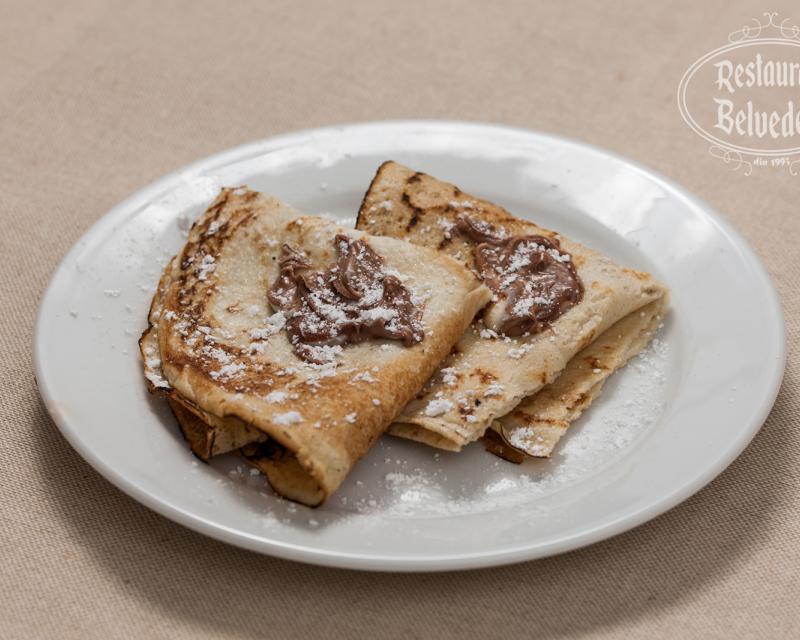 Poza Clatite cu crema de ciocolata
