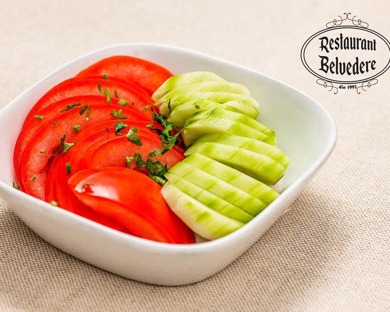 Poza Salata de rosii cu castraveti