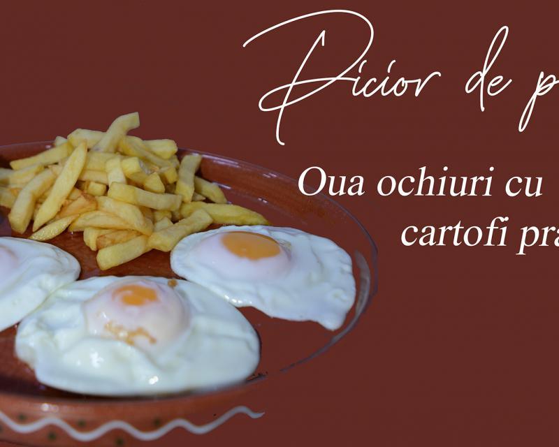 Poza Oua ochiuri cu cartofi prăjiți