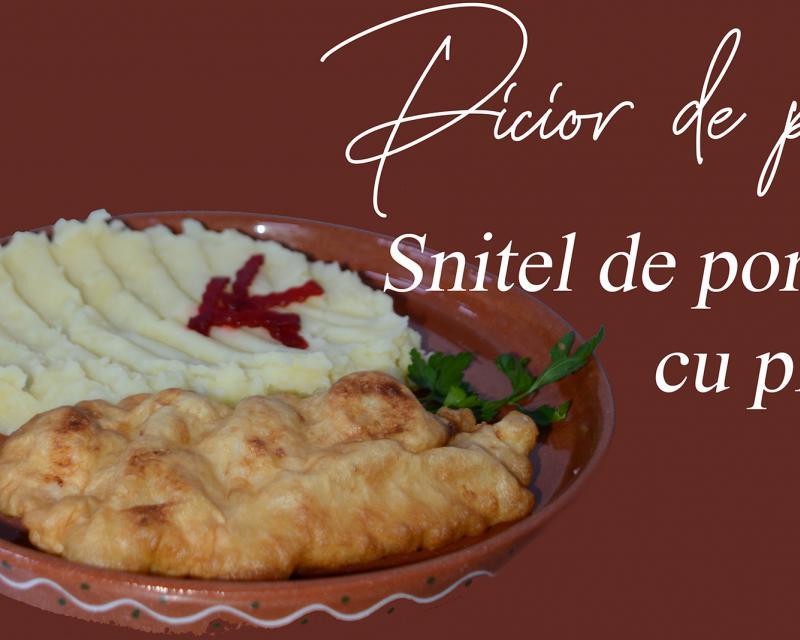 Poza Snitel de porc cu piure de cartofi