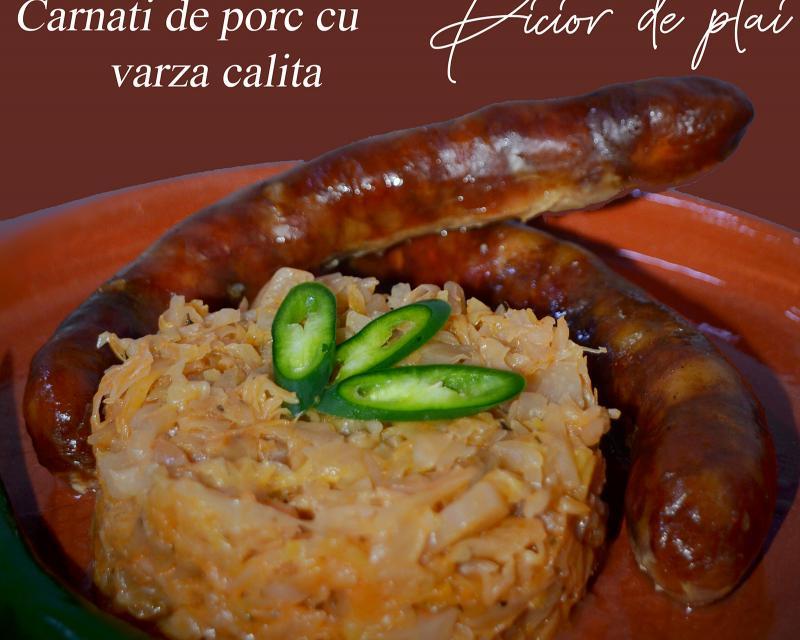 Poza Carnati de porc cu varza călită