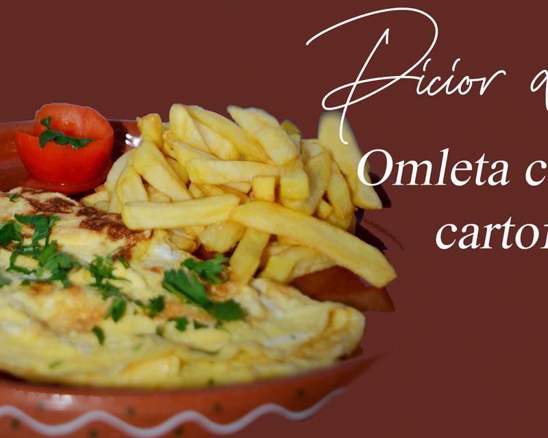 Poza Omleta cu cartofi prăjiți