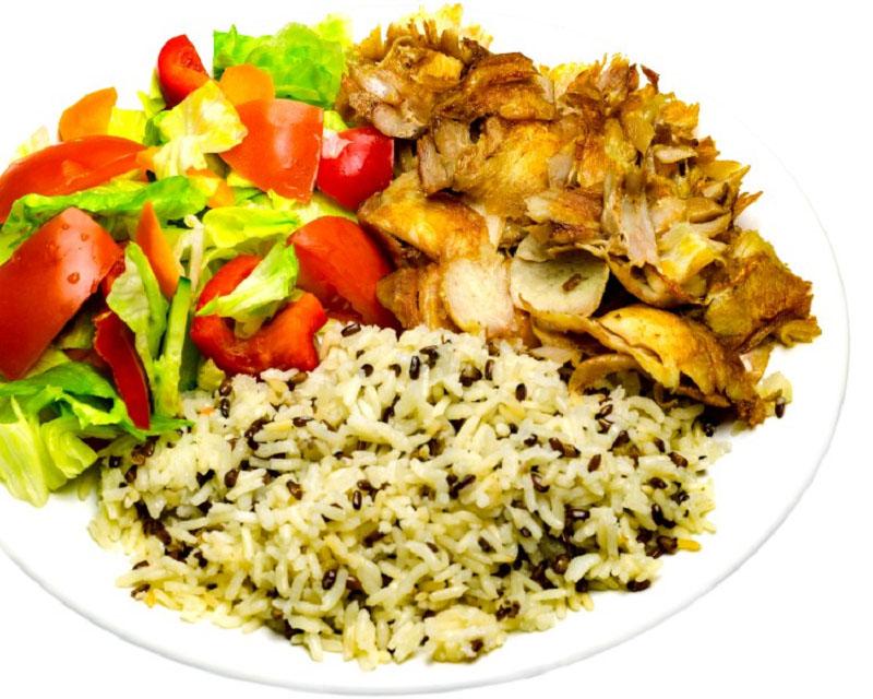 Poza Kebab de pui  L cu cartofi sau orez