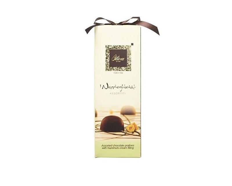 Poza Praline asortate de ciocolată umplute cu cremă de alune NOCCIOGHIOTTI OLIVA