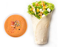Poza King wrap chicken +supa crema