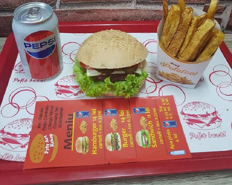 Poza Meniu Hamburger + Cartofi + Suc