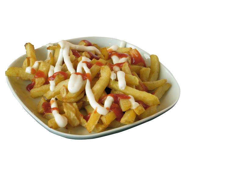 Poza Patatas fritas con mayonesa- gratis la orice fresh, suc sau bere