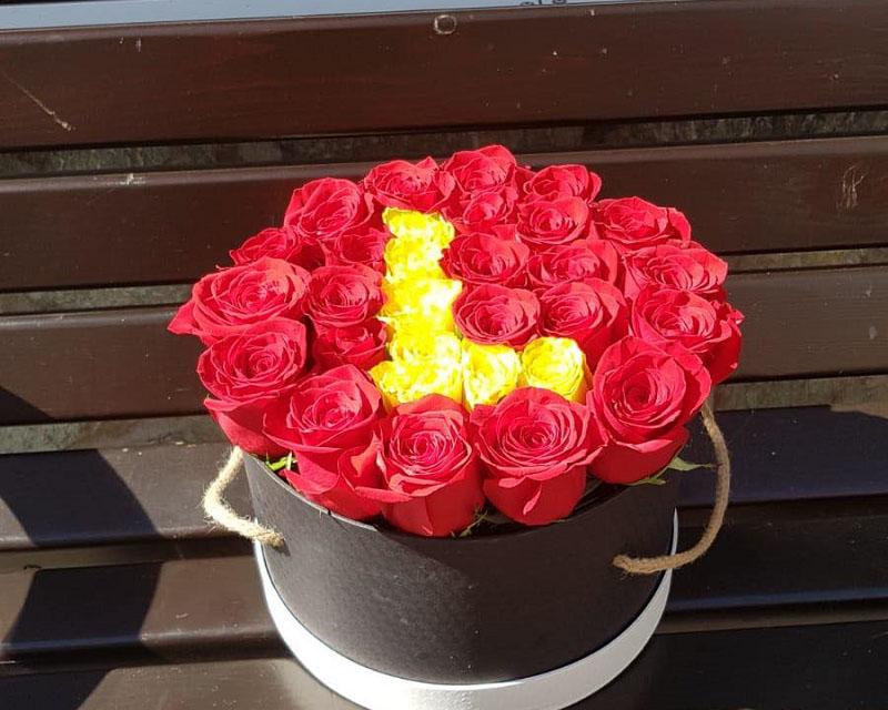 Poza Cutie 29 de trandafiri